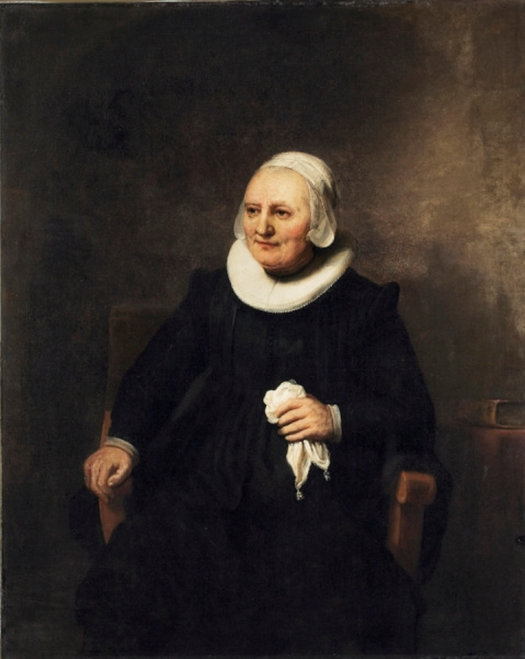 Karel Fabricius. Portrait of woman with handkerchief