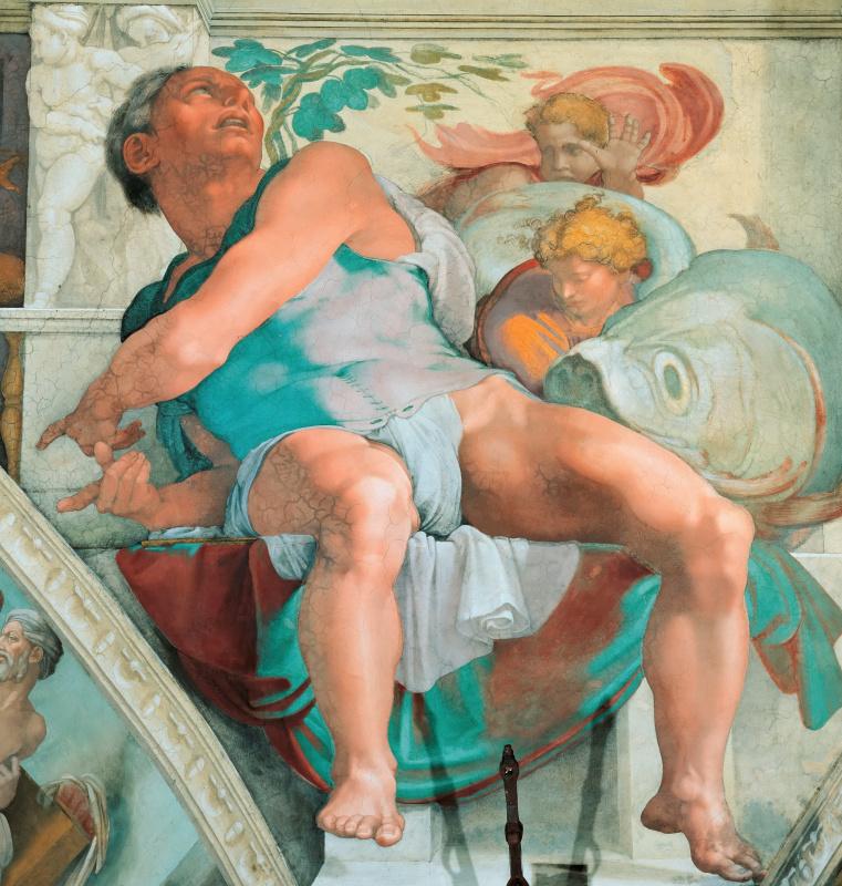 Michelangelo Buonarroti. The Prophet Jonah