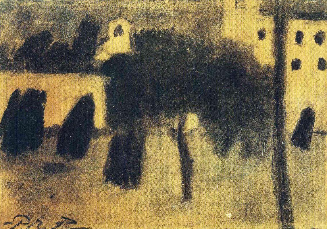 Пабло Пикассо. Женщины, переходящие через площадь