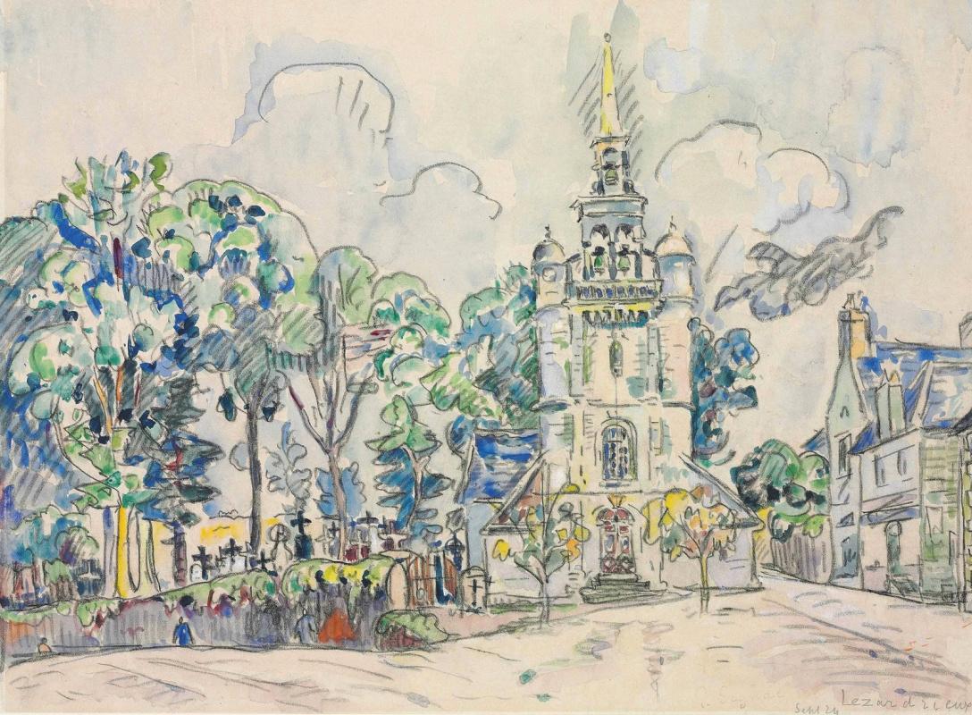 Paul Signac France 1863 - 1935. Lezardrie (church). 1924, September