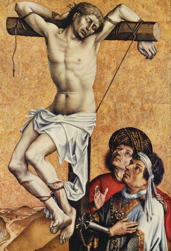 Робер Кампен. Раскаявшийся разбойник на кресте. Фрагмент