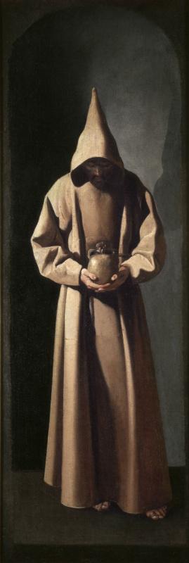 Франсиско де Сурбаран. Стоящий святой Франциск созерцающий череп