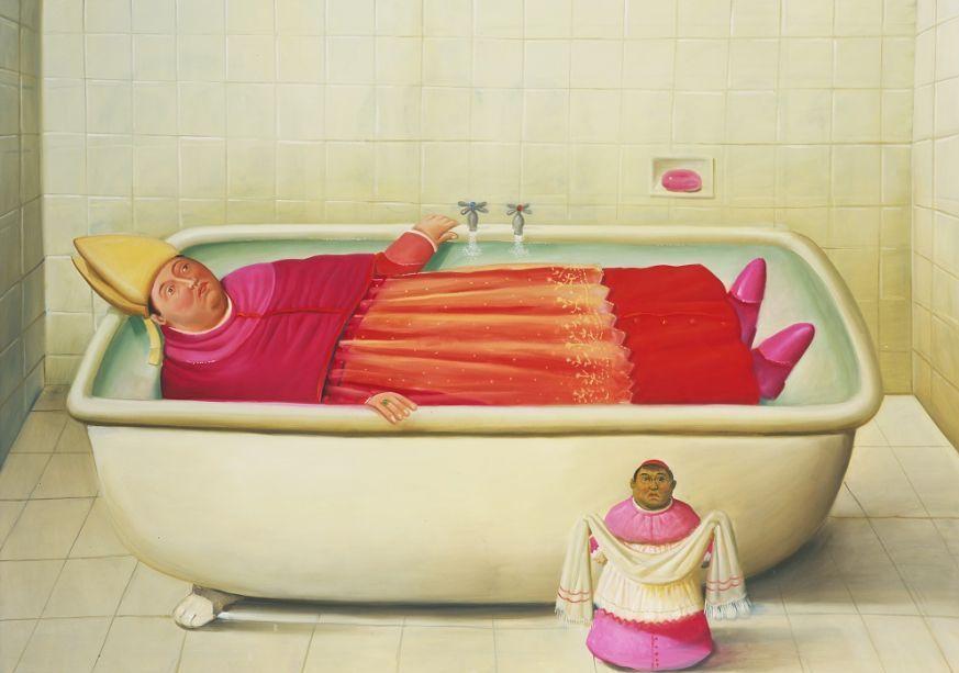 Фернандо Ботеро. Ватиканская ванная