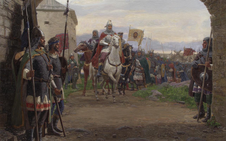 Фёдор Борисович Фёдоров. Russian fortress. Alexander Nevsky in Ladoga July 11, 1240