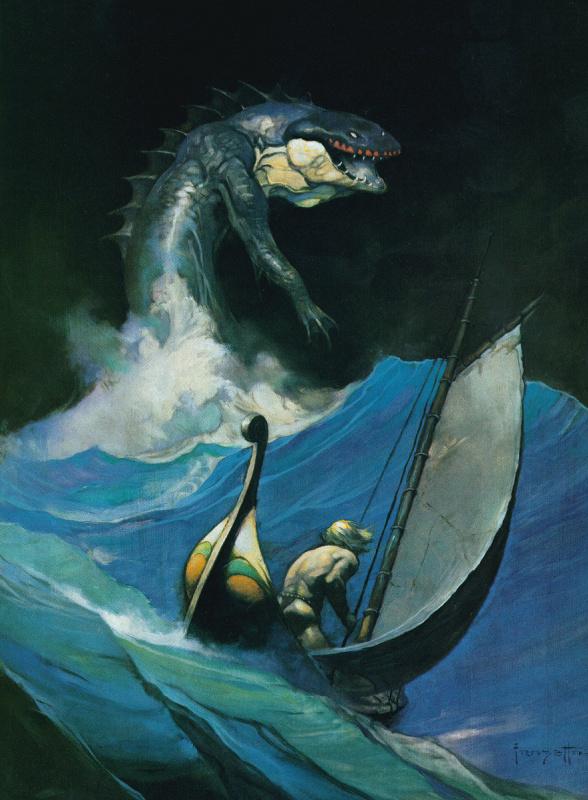 Фрэнк Фраззетта. Морское чудовище