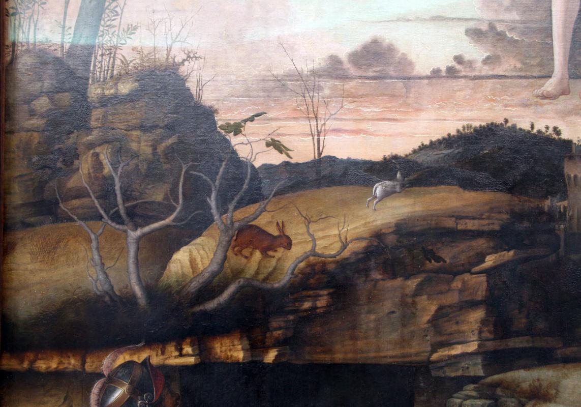 Джованни Беллини. Воскресение Христово. Фрагмент пейзажа