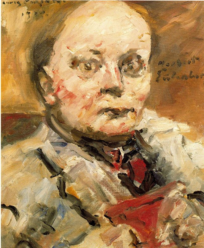 Lovis Corinth. Portrait of the poet Herbert Eulenberg
