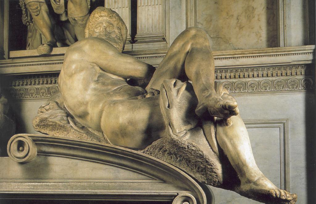 Michelangelo Buonarroti. Tomb Of Giuliano De ' Medici. Day.