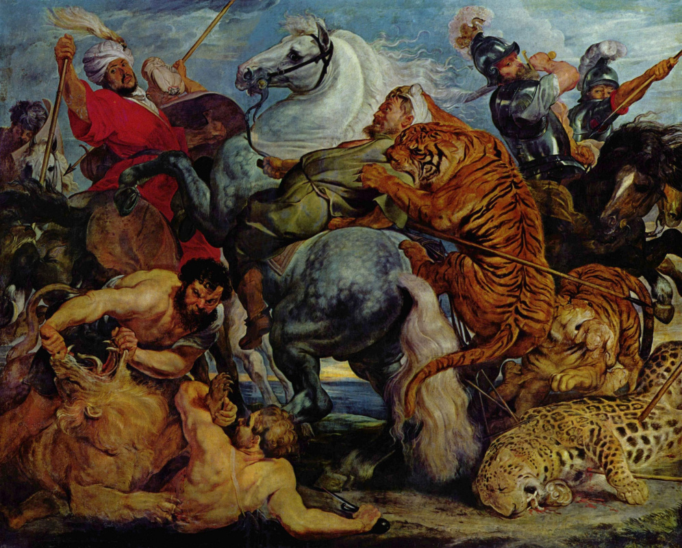 Peter Paul Rubens. Hunting for tigers and lions