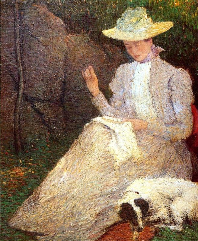 Джулиан Олден Уир. Женщина с собакой
