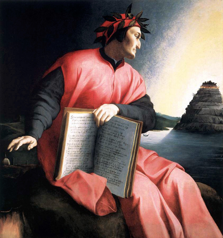 Agnolo Bronzino. Dante looks at Purgatory
