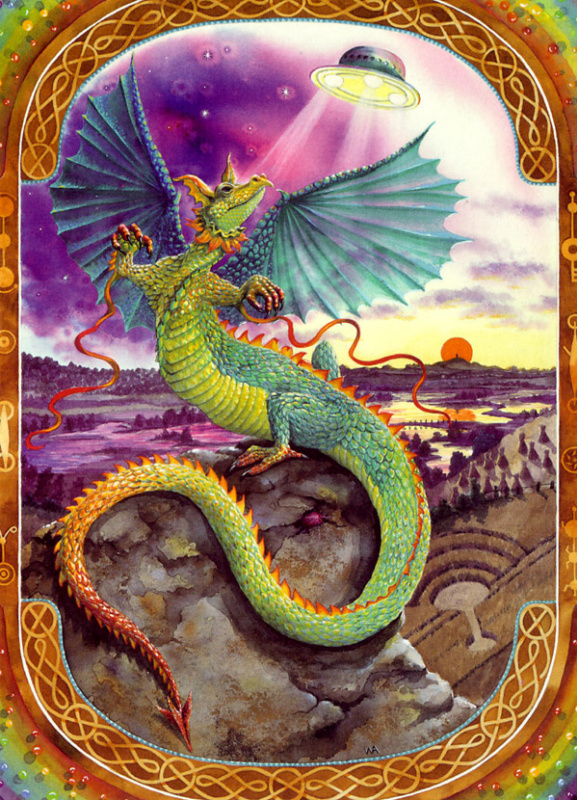 Радужный земляной дракон