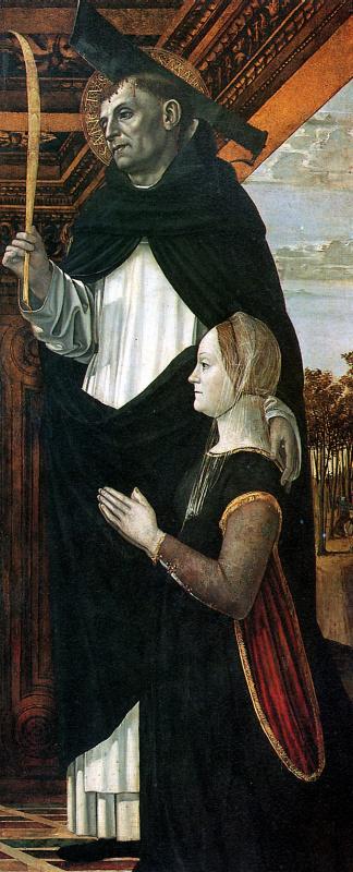 Амброджо Бергоньоне. Святой Петр-мученик