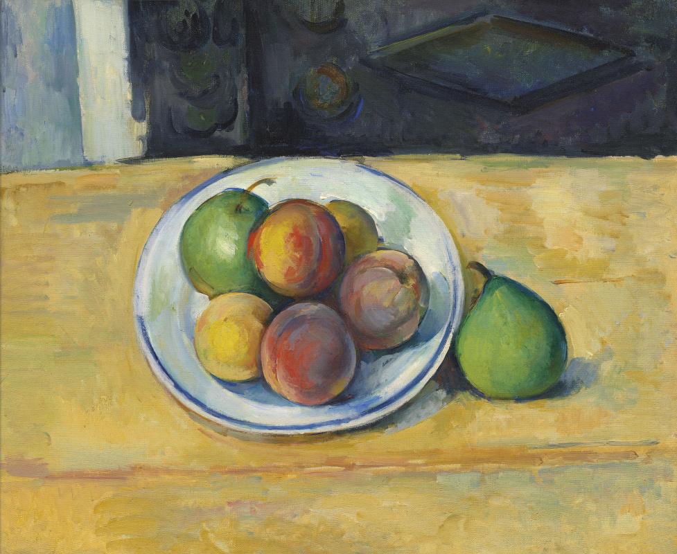 Paul Cezanne. Nature morte de pêches et poires