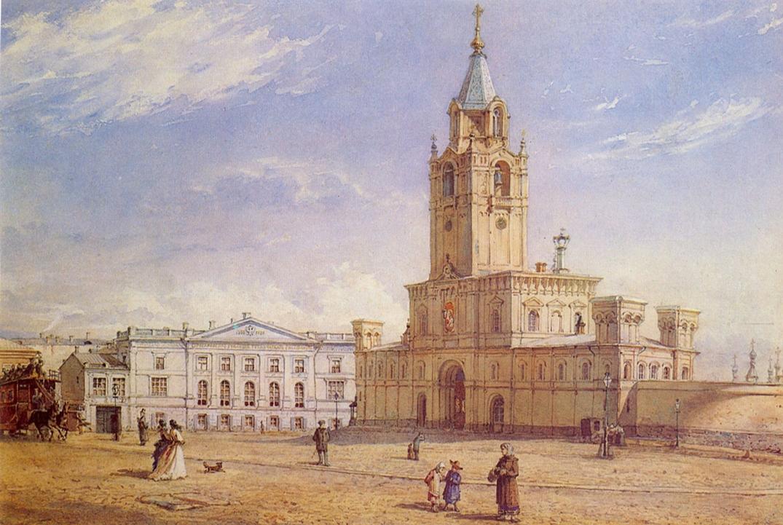 Fedor Ivanovich Yasnovsky. Passionate Monastery. 1877 52 x 65 b. AC