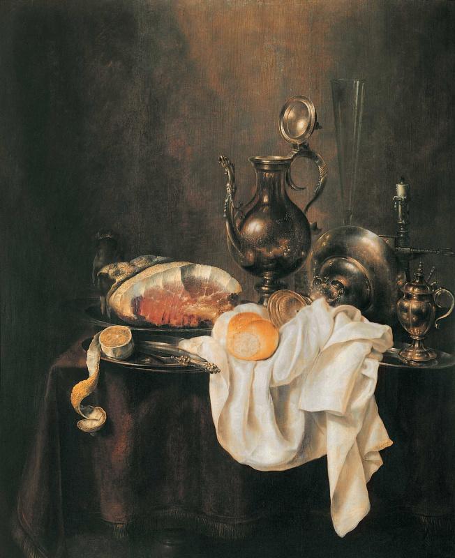 Gerrit Willems Head. Ham and silverware