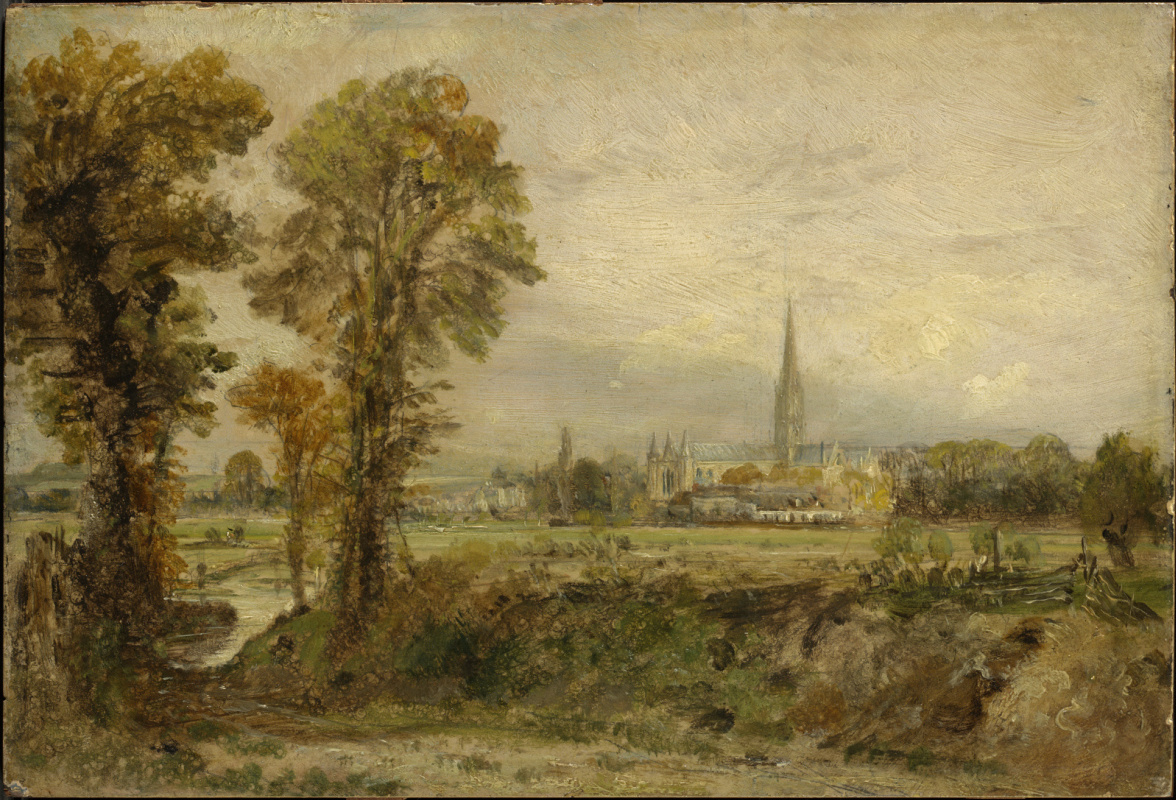 John Constable. Distant view of Salisbury Cathedral