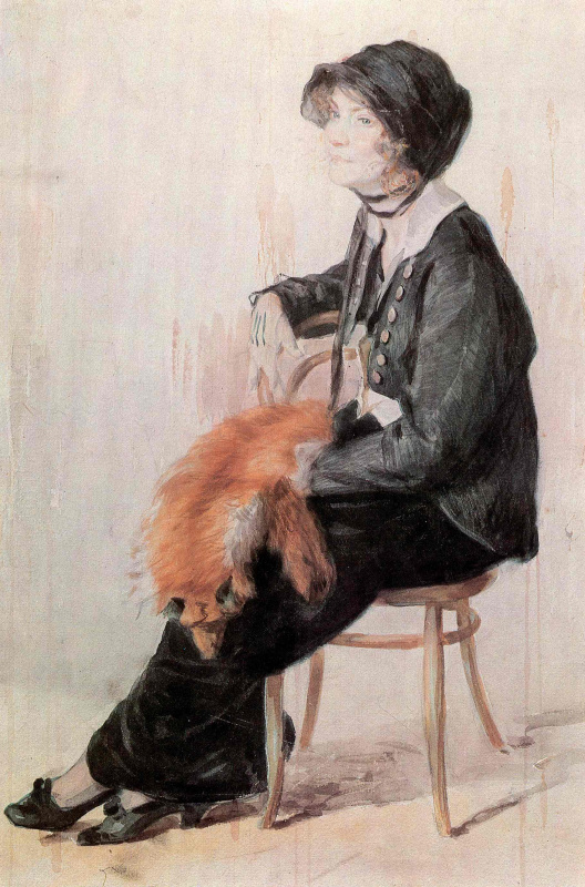 Nikolay Alekseevich Kasatkin. Female portrait