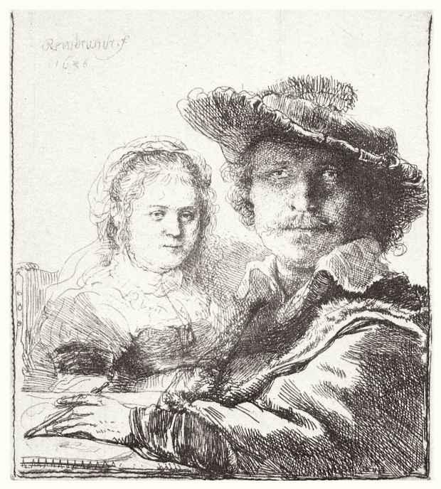 Рембрандт Ван Рейн. Автопортрет с Саскией