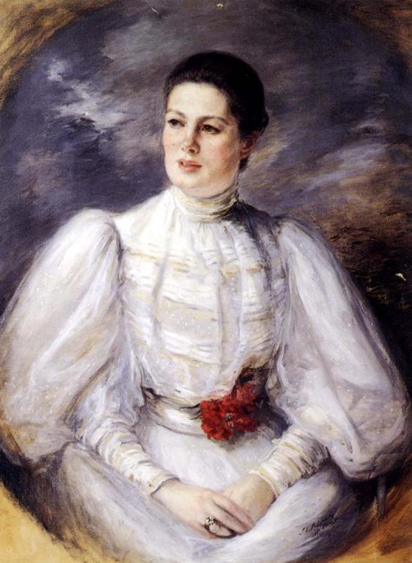Жак Эмиль Бланш. Девушка в белом платье