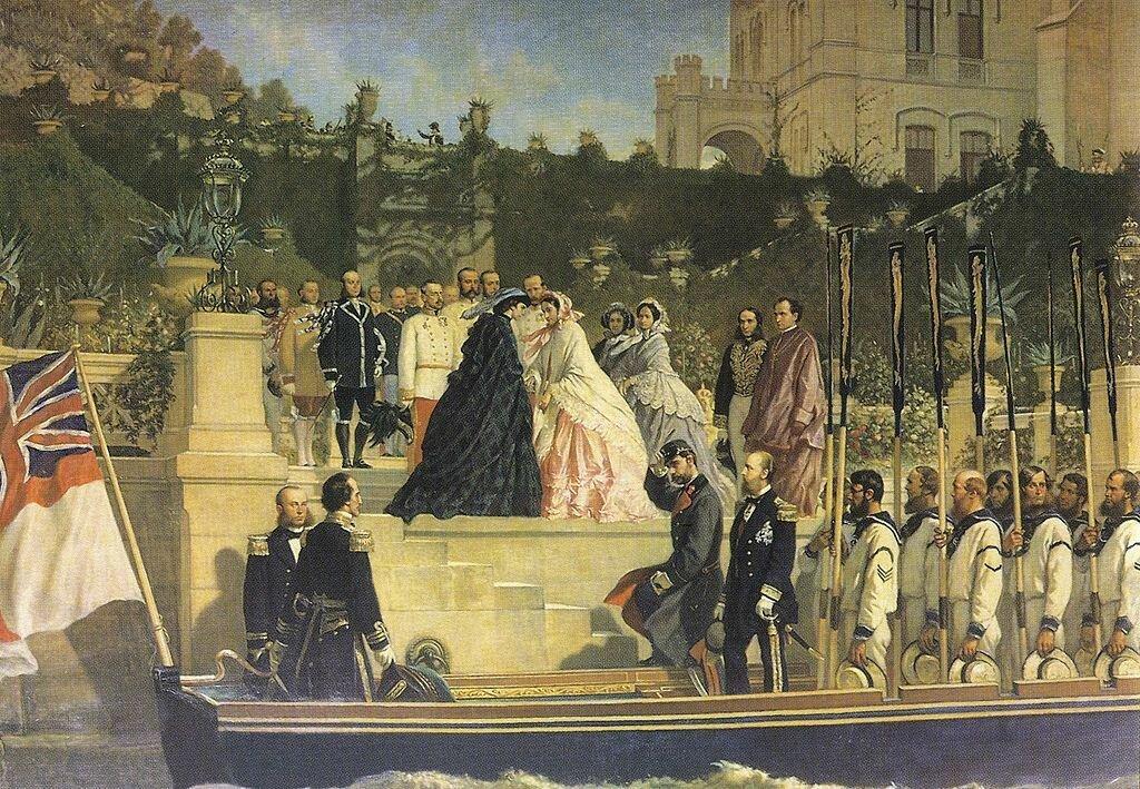 Cesare Dell'Aqua. Visit of Empress Elizabeth to Castello di Miramare in 1861