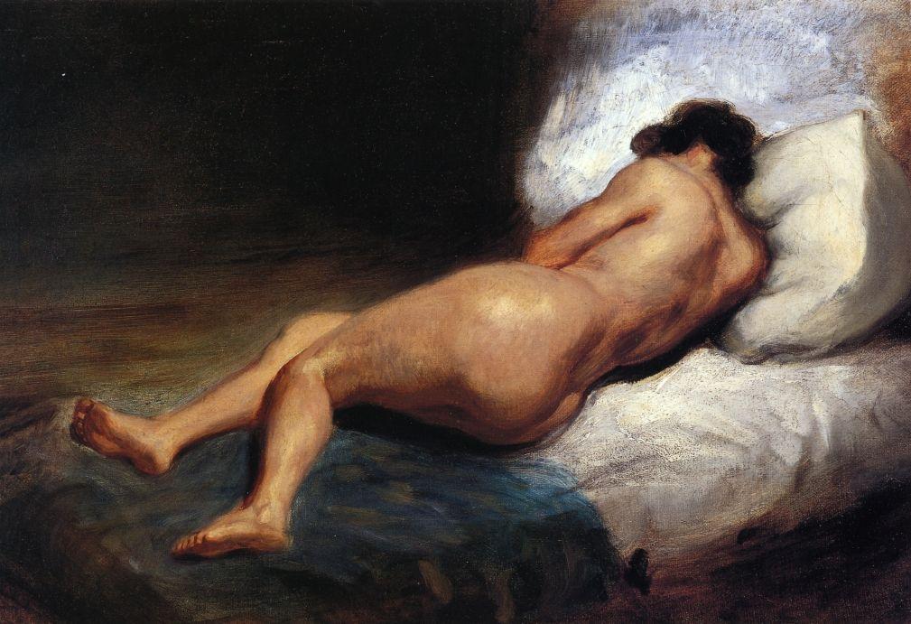 Eugene Delacroix. Reclining Nude woman