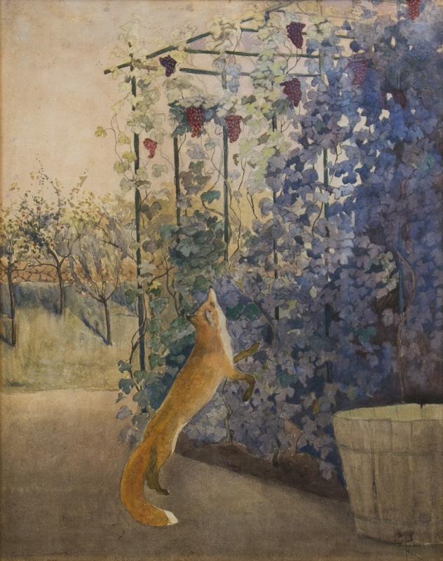 Екатерина Василевна Гольдингер. Лисица и виноград. 1909