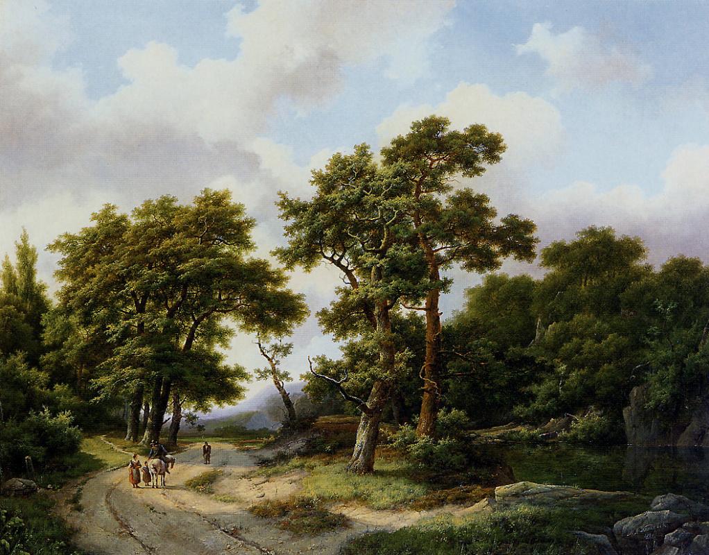 Маринус Куккук. Всадник на лесной тропинке