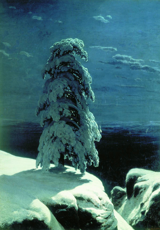 "Ivan Ivanovich Shishkin. ""In the Northern wilderness ..."""