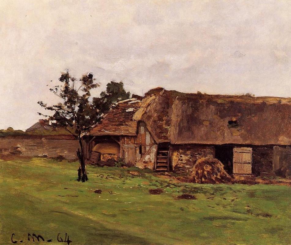 Claude Monet. Farm Saint-Simon near Honfleur