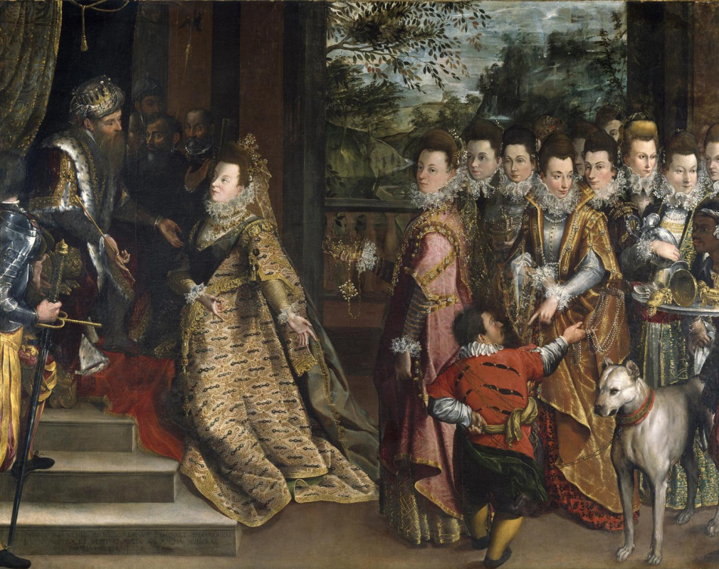 Lavinia Fontana. The Visit of the Queen of Sheba to King Solomon