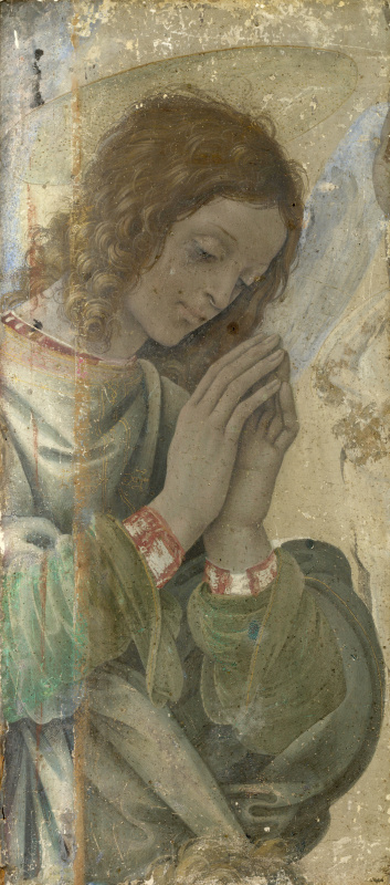 Filippino Lippi. The worship of the angel