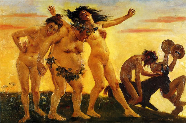 Lovis Corinth. The bacchantes returning home