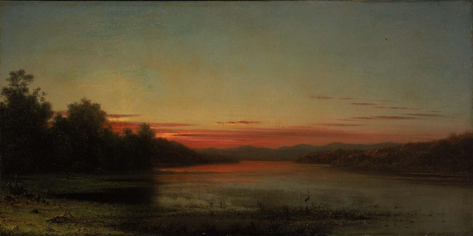 Martin Johnson Head. Sunset at Lake Champlain