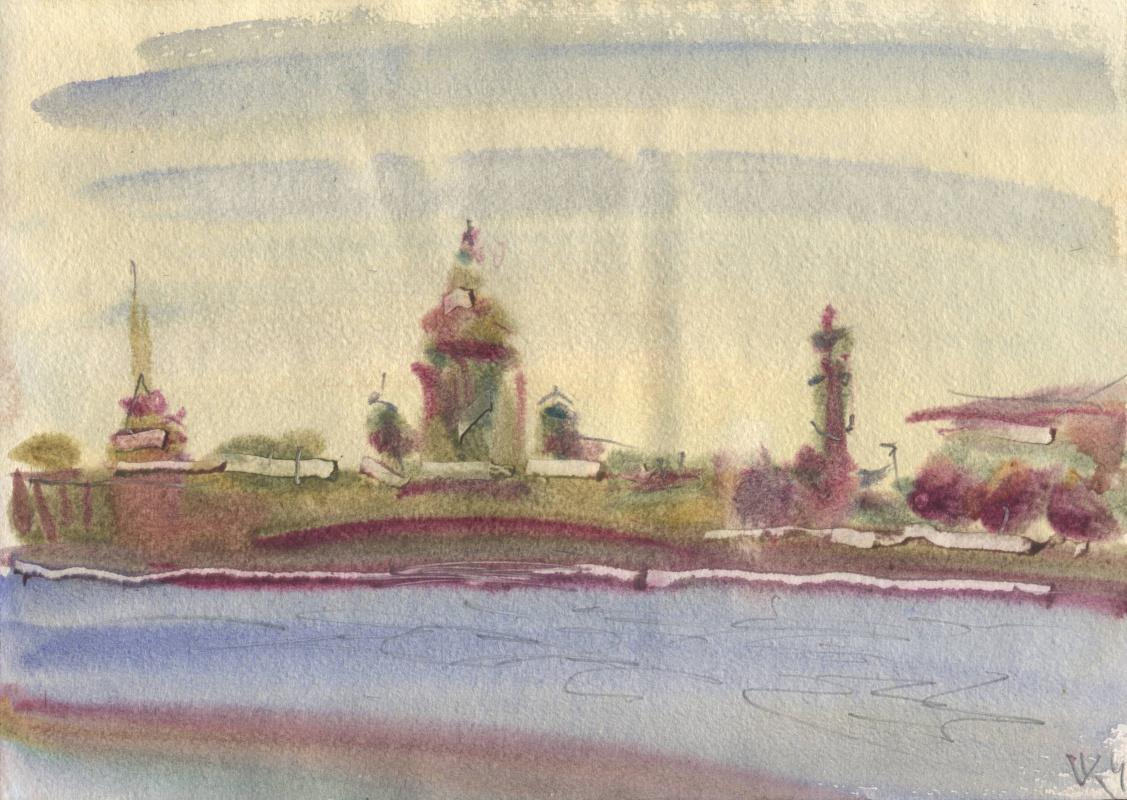 Вячеслав Крыжановский. View from Hare Island: Admiralty, Isaac, Rostral
