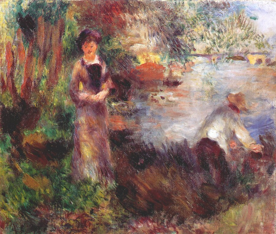 Pierre-Auguste Renoir. On the banks of the Seine at Argenteuil