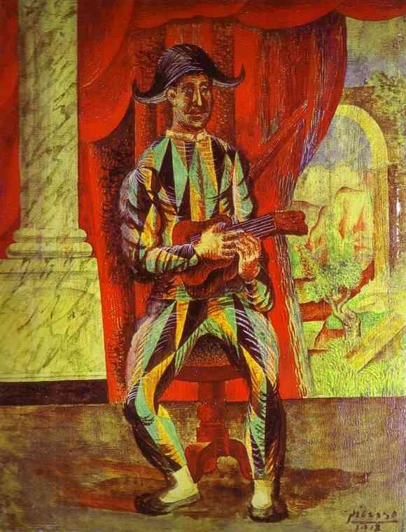Пабло Пикассо. Арлекин с гитарой