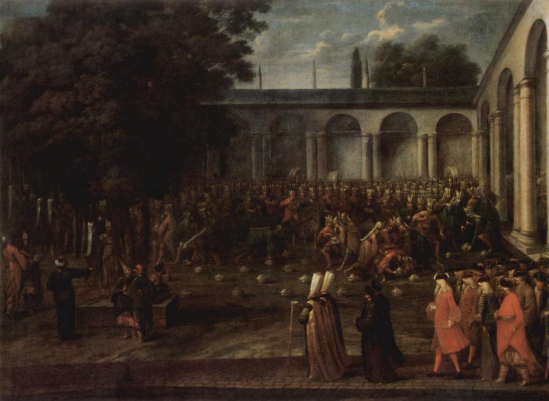 Жан-Батист ван Маур. Посол Корнелис Калкун отправляется на аудиенцию у султана Ахмеда III