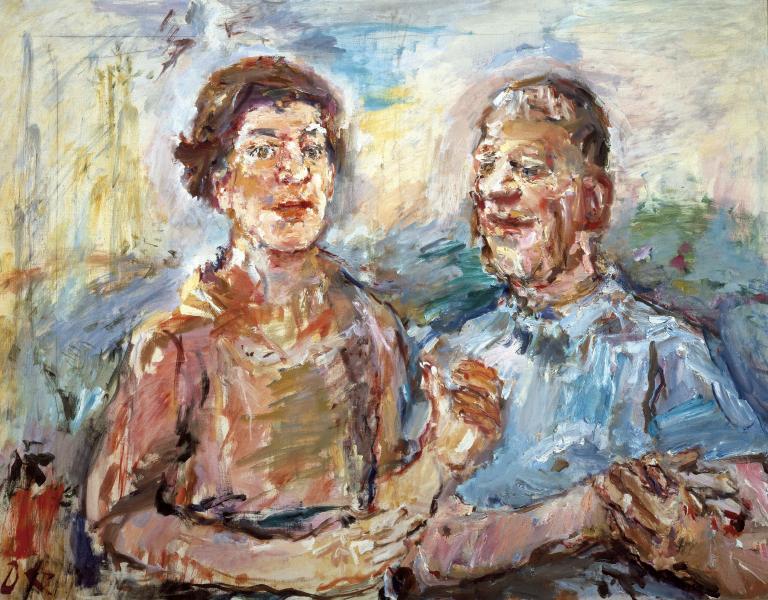 Oskar Kokoschka. Double portrait: Olda and Oscar Kokoshka
