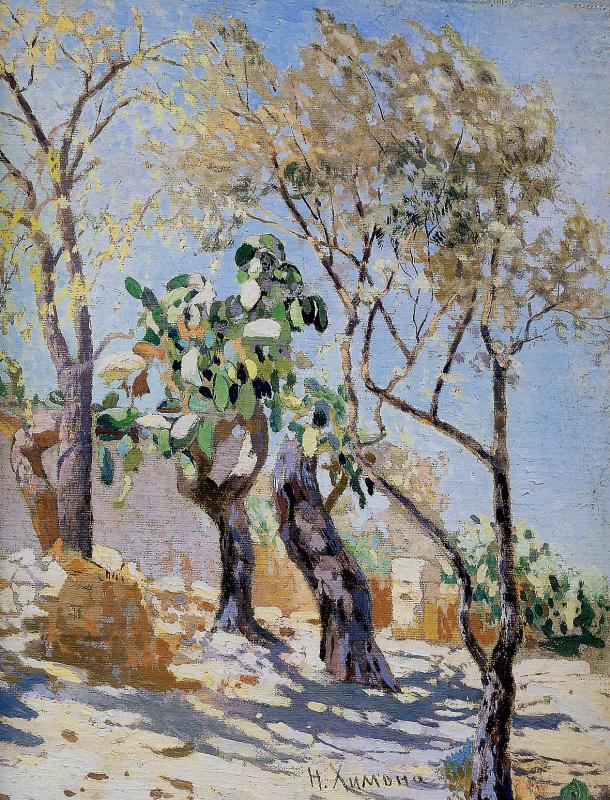 Николай Химона. Пейзаж с кактусами