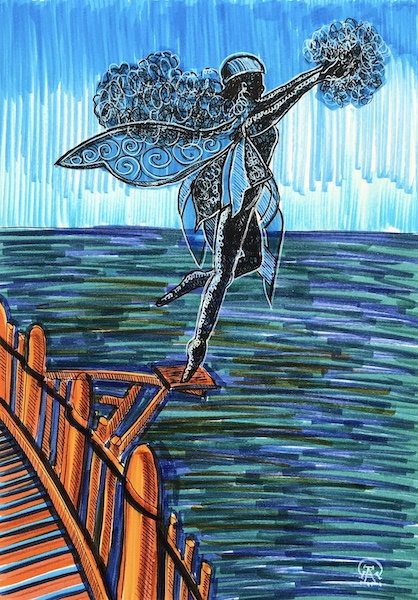 Larissa Lukaneva. Phu Quoc. Statuette. Sketch.