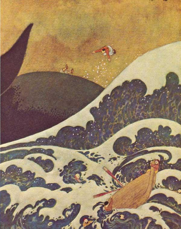 Edmund Dulac. The adventures of Sinbad-морехода03