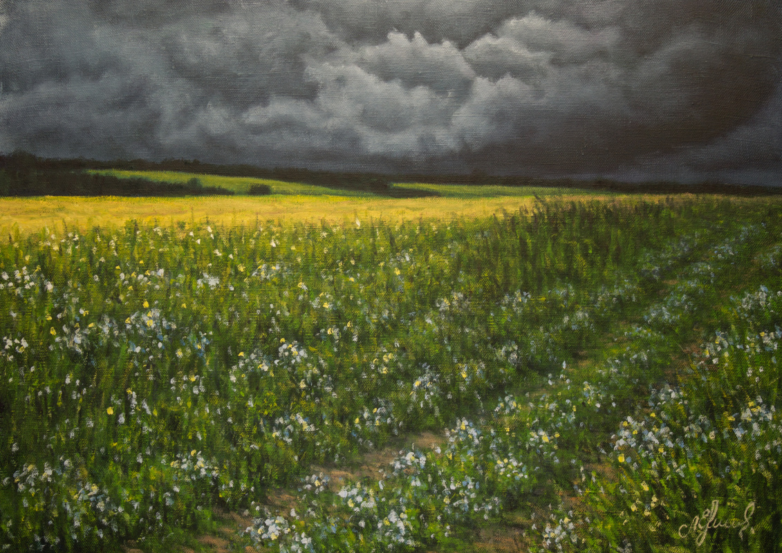 Valery Levchenko. No. 516 Before a thunderstorm.