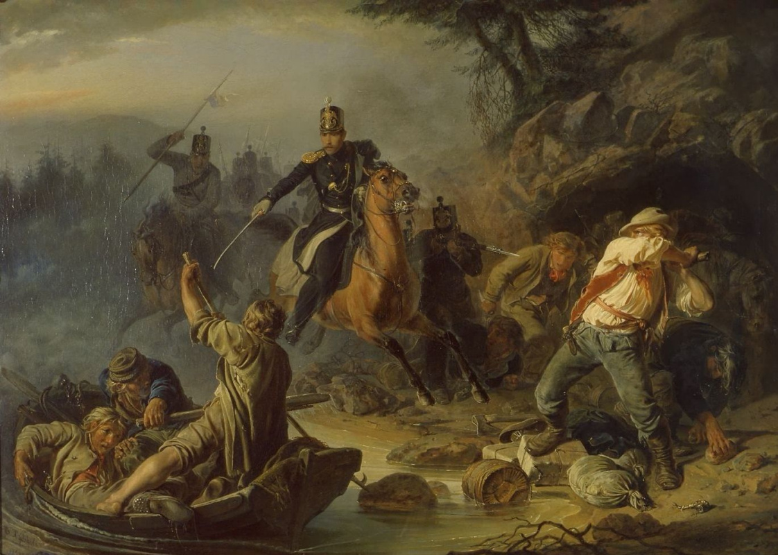 Vasily Grigorievich Khudyakov. Skirmish with Finnish smugglers