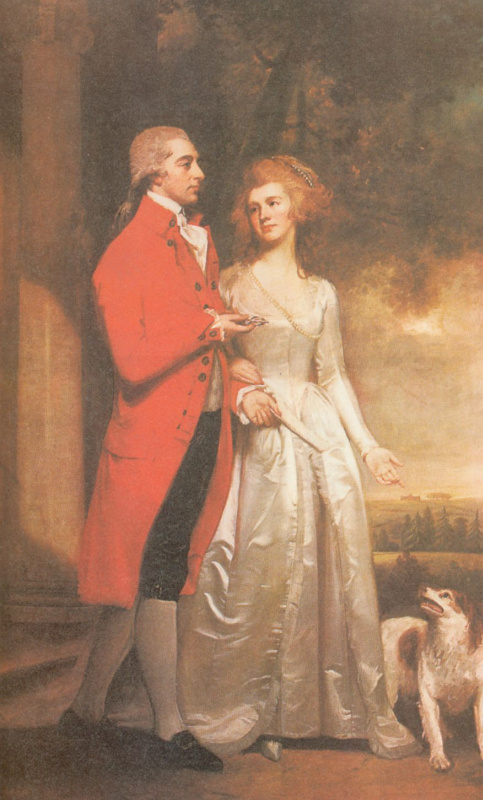 George Romney. Sir Christopher and lady Sykes