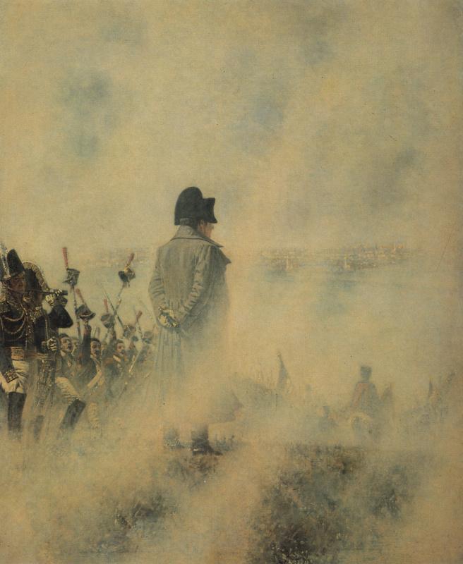 Наполеон на Поклонной горе в ожидании депутации