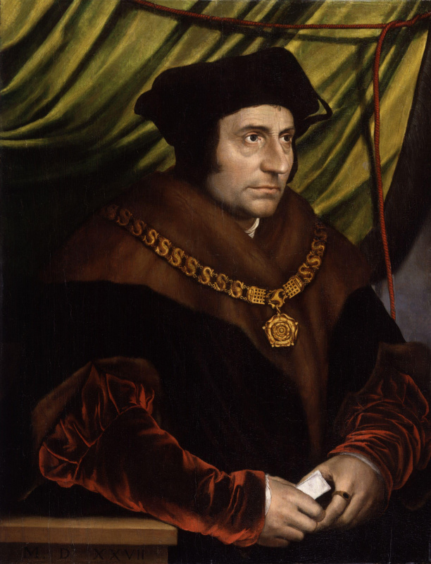 Hans Holbein The Younger. Portrait of Thomas More