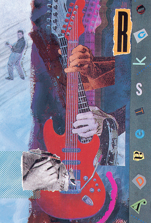 Alan Mazzetti. Red guitar