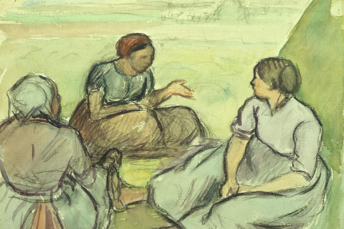 Камиль Писсарро. Три крестьянки