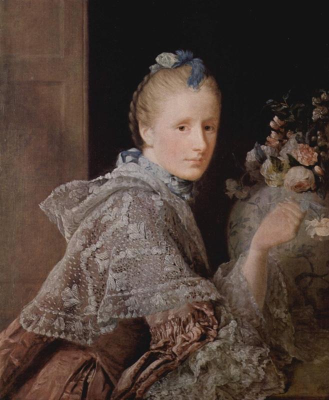 Аллан Рэмзи. Портрет жены художника Маргарет Линдси